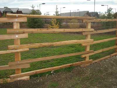 Cedar Split Rail Fencing - Acreage and Farm Fencing - Rustic Wooden ...